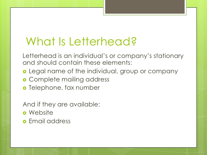 What Is A Letterhead