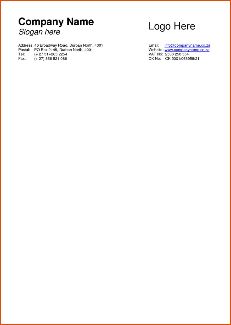 letterhead examples for business