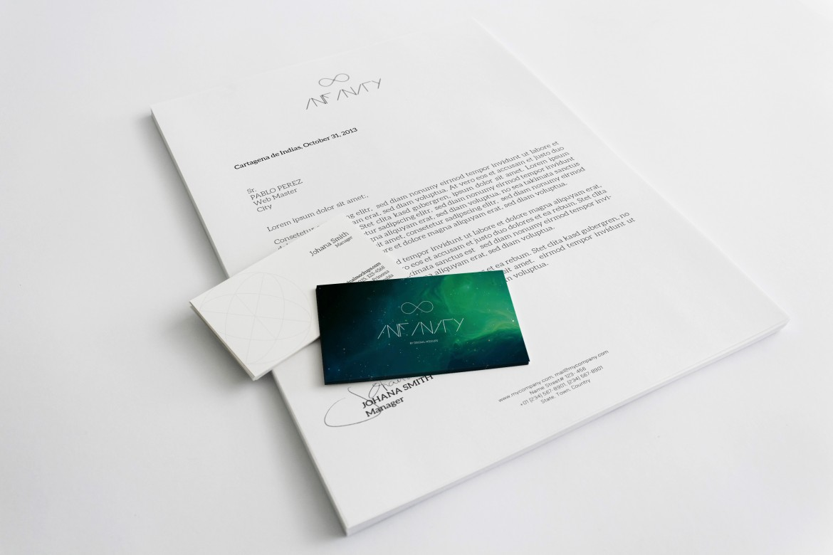 A4 Letterhead and Business Cards Mockup – Original Mockups