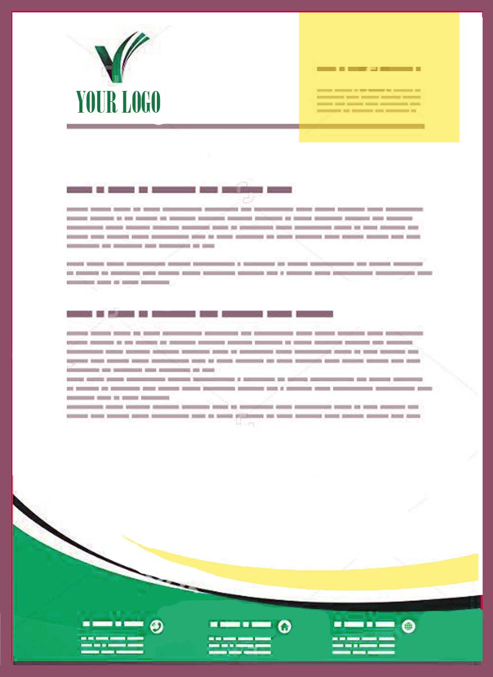 Fancy Letterhead Examples With Logo 36 With Additional Brand Logos