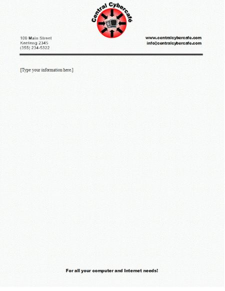 Professional Letterhead Examples