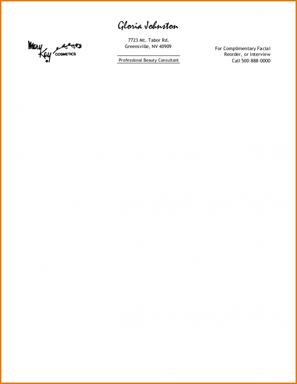 Word Letterhead Templates Free Samples, Examples, Format