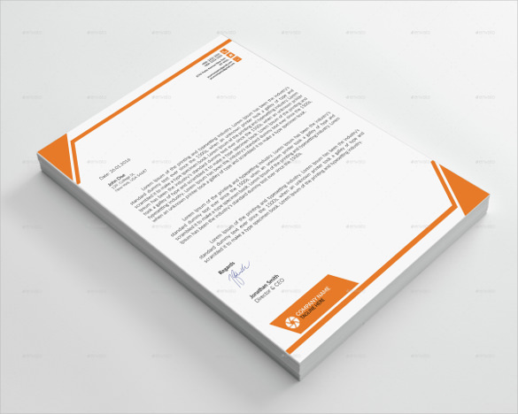 Letterhead Psd Free Download