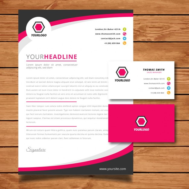 Corporate Letterhead Free Download | Free PIK PSD