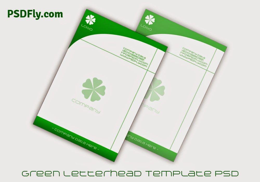 Blue Letterhead Template PSD | PSD Fly | Download Free PSD Files