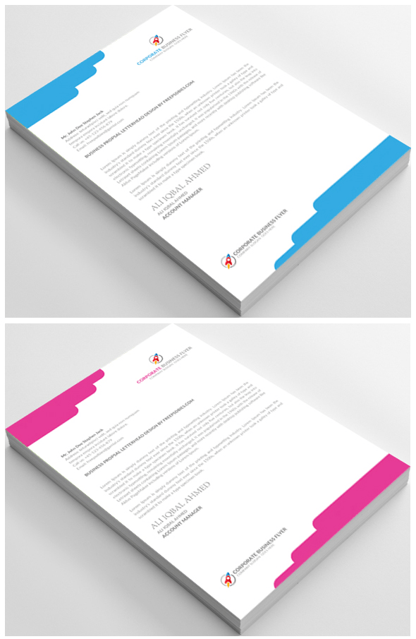 Free Download Letterhead PSD