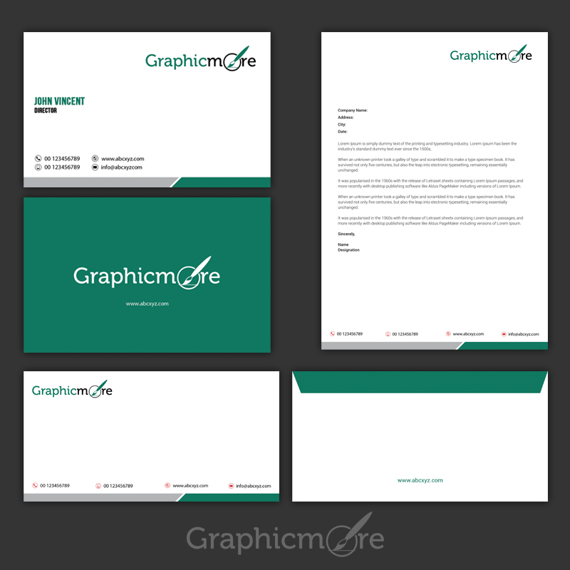 Psd Corporate Letterhead Template 000401: Corporate Identity Template Psd Download