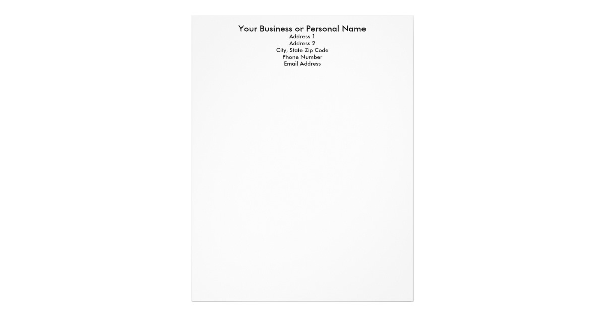 create your own letterhead