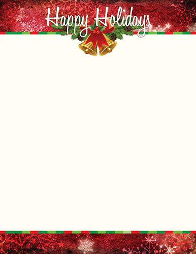 Clever image pertaining to free printable christmas letterhead