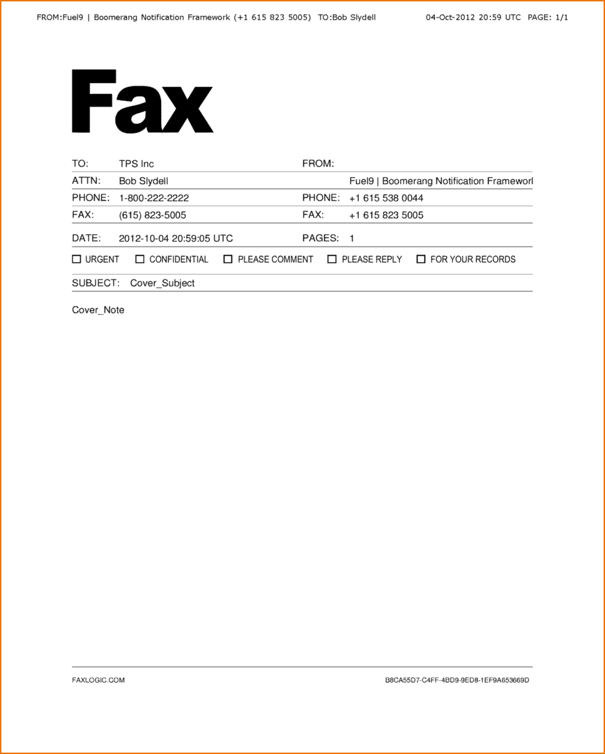How To Write A Business Fax Cover Sheet
