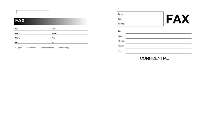Fax Template Printable Matchboardco - Fax cover letter template microsoft word