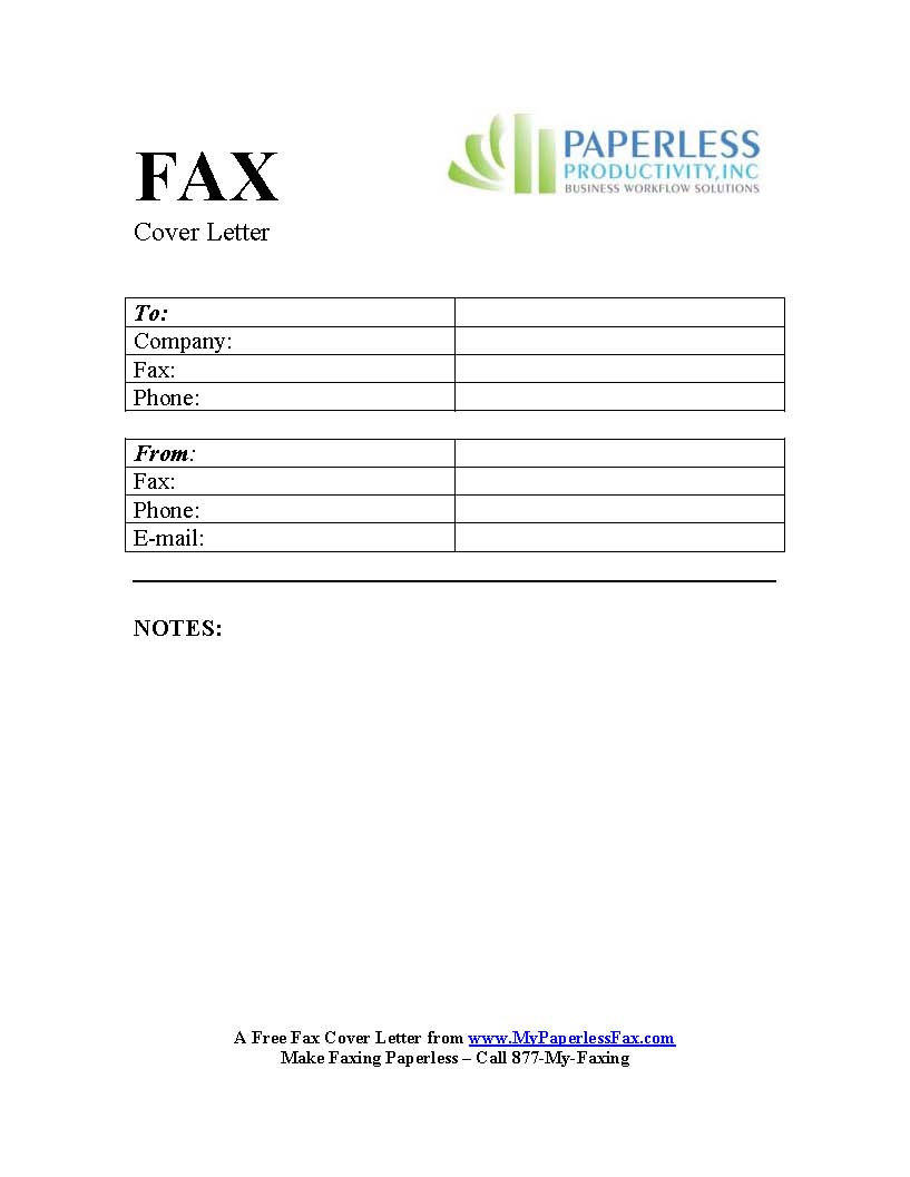 Fax Cover Letter Template Pages